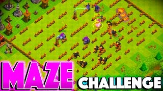 MAZE BASE VS TANK TROOPS! - Clash of Clans - TROLL BASE 3 STAR CHALLENGE!