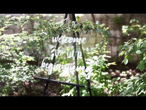DIY Acrylic Wedding Signage