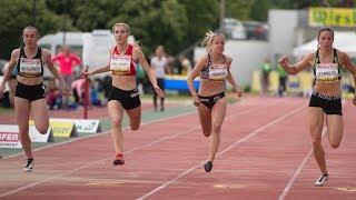 Women's 100m Final B at Liese Prokop Memorial 2019