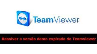 Resolver a versão demo expirada do Teamviewer