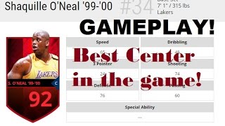 92 Shaq Gameplay + Season Veteran Pack Opening! Best Center in the Game! NBA Live Mobile