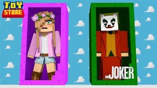 THE JOKER TAKES OVER THE TOY STORE !!   Minecraft Little Kelly TOY STORE