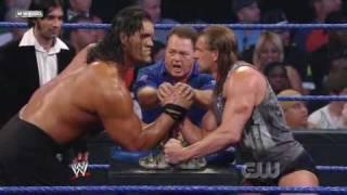 Triple H vs. The Great Khali (Broken Glass Arm Wrestling) (2/2)