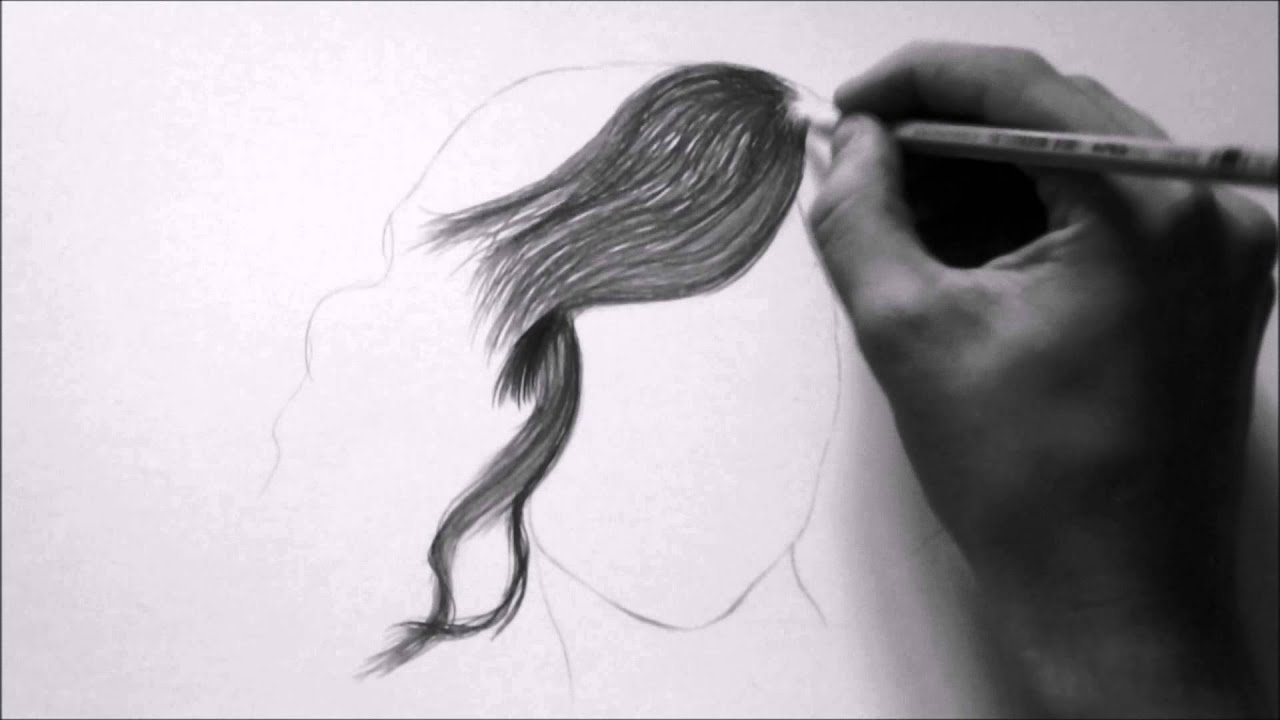 How to draw hair realistic with pencil