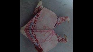 hướng dẫn xếp hạc bằng tiền giấy