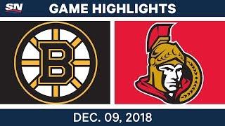 NHL Highlights | Bruins vs. Senators - Dec 9, 2018