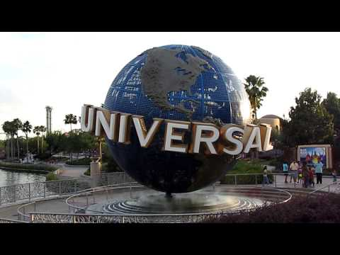 Universal Studios Orlando Globe and City Walk Signs