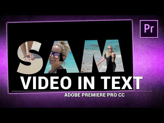 Adobe Premiere Pro / Video in Text Shape Effect (Tutorial)