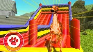 Играем в СИМУЛЯТОР СОБАКИ #6 ЖИРАФ мульт-игра развлекательное видео