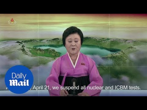 North Korea 'suspends' missile and nuclear tests - Daily Mail