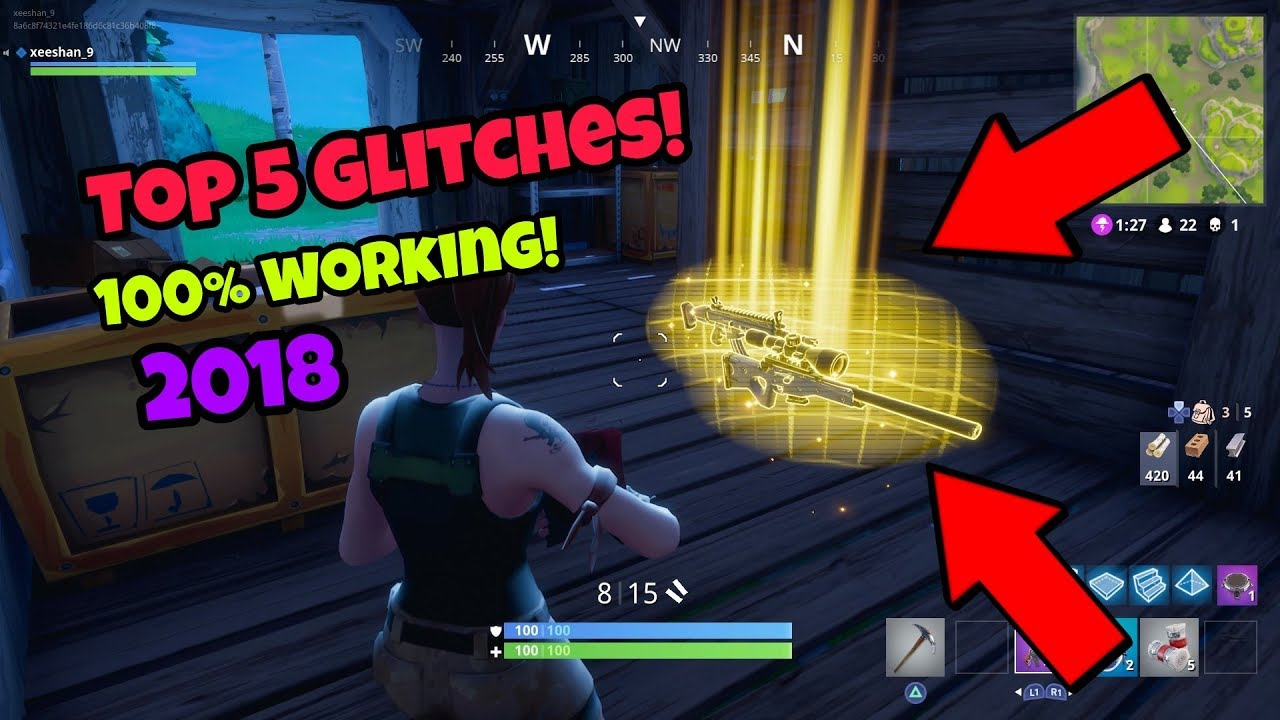 Fortnite Battle Royale Glitches Top 5 New Become Invincible Ps4
