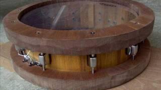 "14"" Handmade Stave Snare Drum w/ Wood Rims"