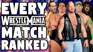 Every WWE WrestleMania Match Ranked From WORST To BEST