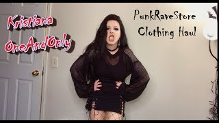 Punk Rave Store Clothing Haul try on