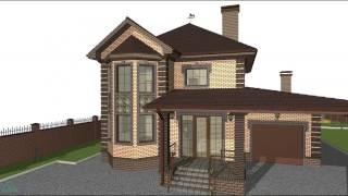видео Проекты и планировка двухэтажного дома с гаражом
