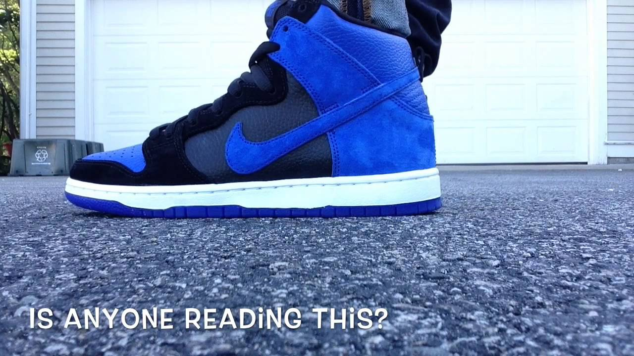 342993193be1e Nike SB Dunk High Royal ON FEET Review - YouTube