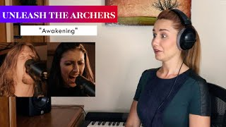 "Unleash the Archers ""Awakening"" REACTION & ANALYSIS by Vocal Coach/Opera Singer"
