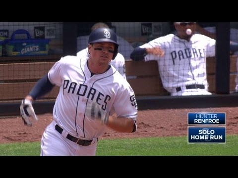 MIL@SD: Renfroe belts a solo homer to...