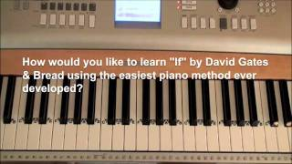 How To Play IF On Piano | by David Gates & Bread