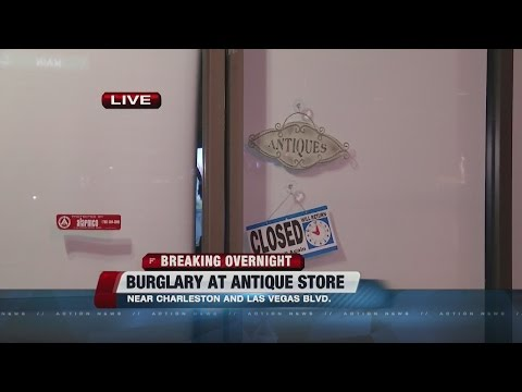 Burglary at antique store near downtown