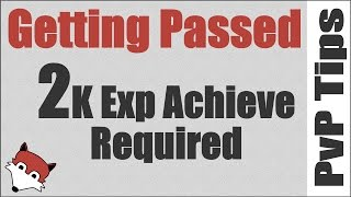 Getting Passed 2K Exp Achievement Required for RBGs - Legion 7.1.5