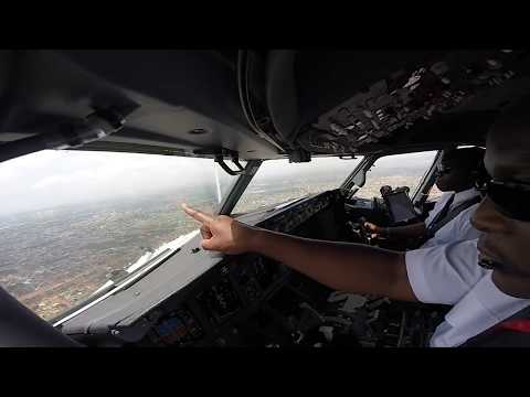 Amazing Cockpit View Video Landing in Accra Ghana Kenya Airways B737 800