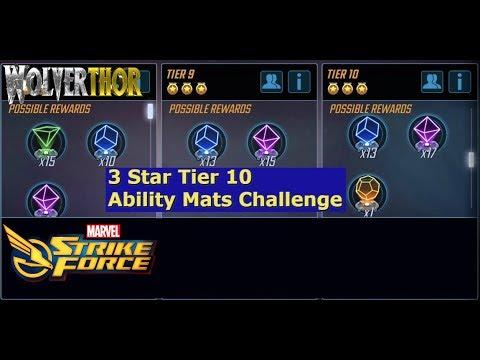 Marvel Strike Force - 3* Ability mats tier 10 Challenge