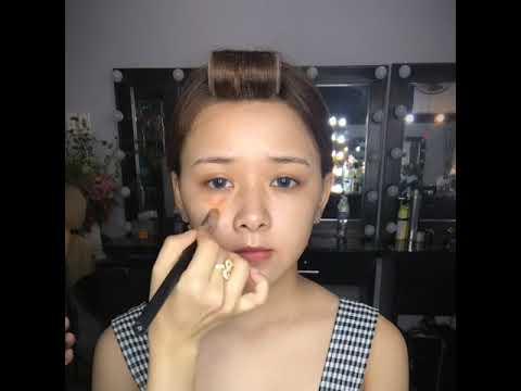 Hướng dẫn makeup cô dâu #tone_hồng (#pink_girl) mùa hè ngọt ngào. Lông mày phẩy sợi tự nhiên