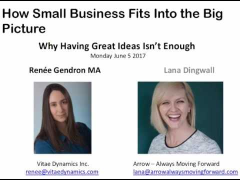 Why Having Great Ideas Isn't Enough - How Small Business Fits Into the Big Picture