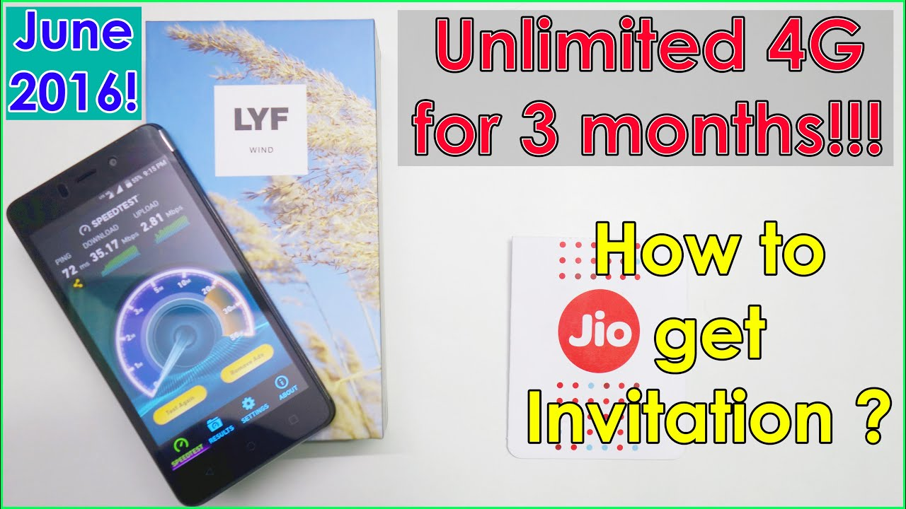 lyf wind 6 unboxing how to get jio sim card for 3 months