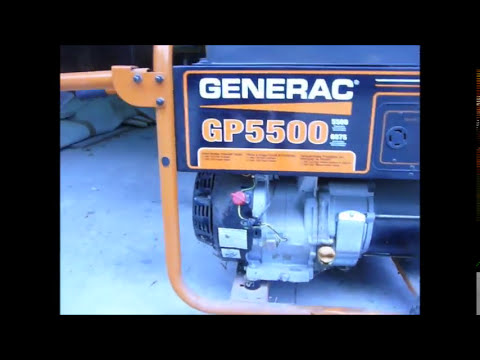 Generac GP5500 Carburetor Servicing