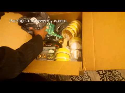 Unboxing Package from MyUS in USA to Saudi Arabia