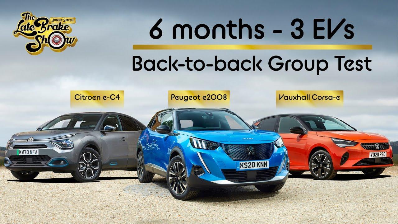 Long term EV group test: Peugeot e2008, Vauxhall Corsa-e and Citroen E-C4