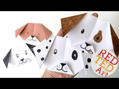 Easy Origami Dog & Puppy (Emoji Puppy Paper Craft)