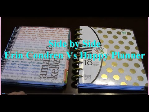Erin Condren Life Planner Vs The Happy Planner Review