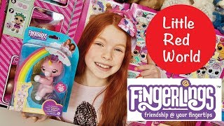 FUN FINGERLINGS UNICORN UNBOXING!!! TOY REVIEW! | Little Red World