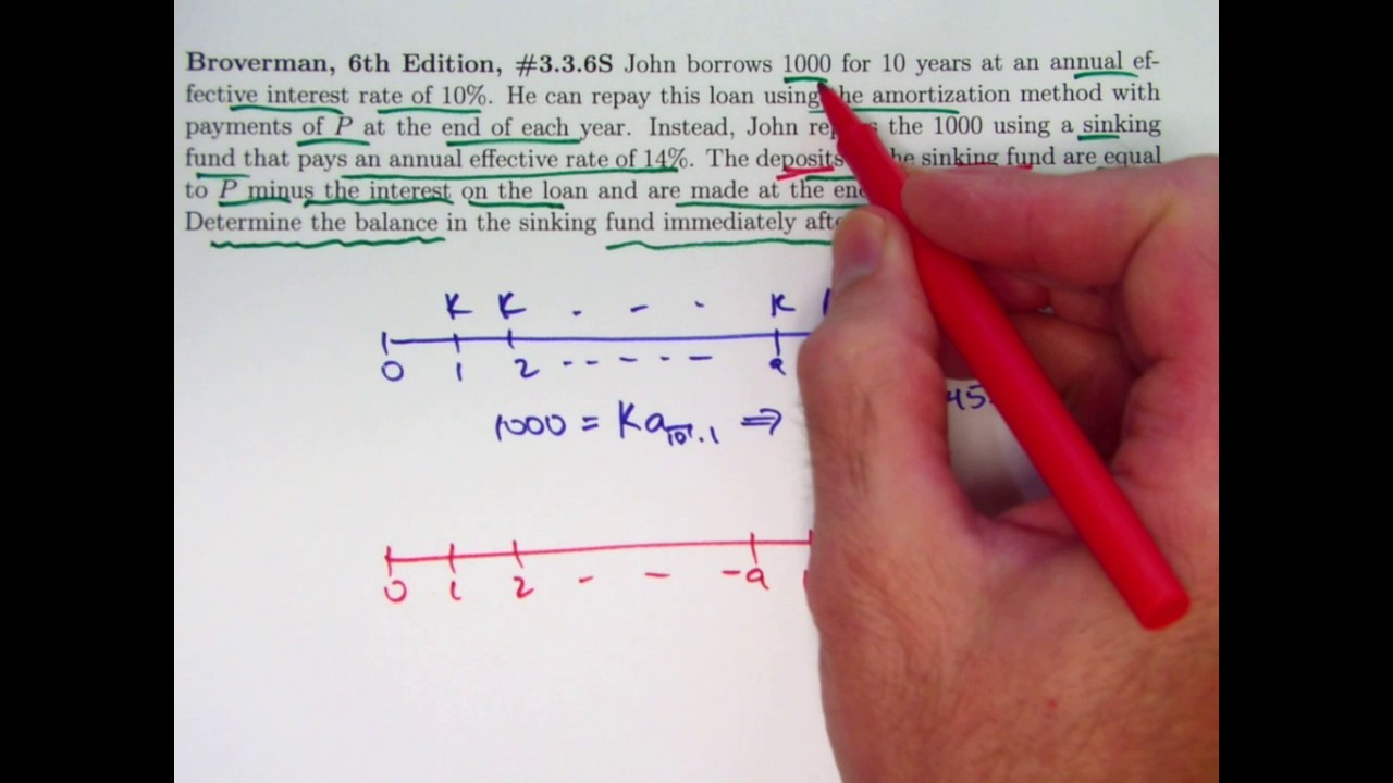actuarial exam 2  fm prep  find sinking fund balance after