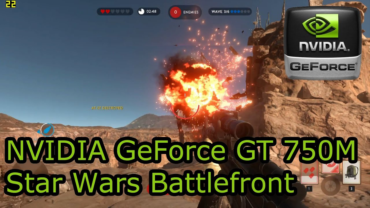 NVIDIA GeForce GT 750M Gaming - Star Wars Battlefront - Dell XPS 15, Retina  MacBook Pro 15