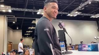 Alabama's Tua Tagovailoa speaks at NFL Combine 2020