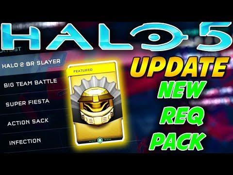 Halo 5 News Update! New Greatest Hits Customization REQ Pack and Halo 2 Battle Rifle Playlist!