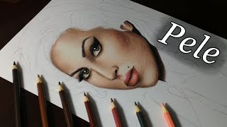 Como Pintar Pele Realista Com Lápis de Cor