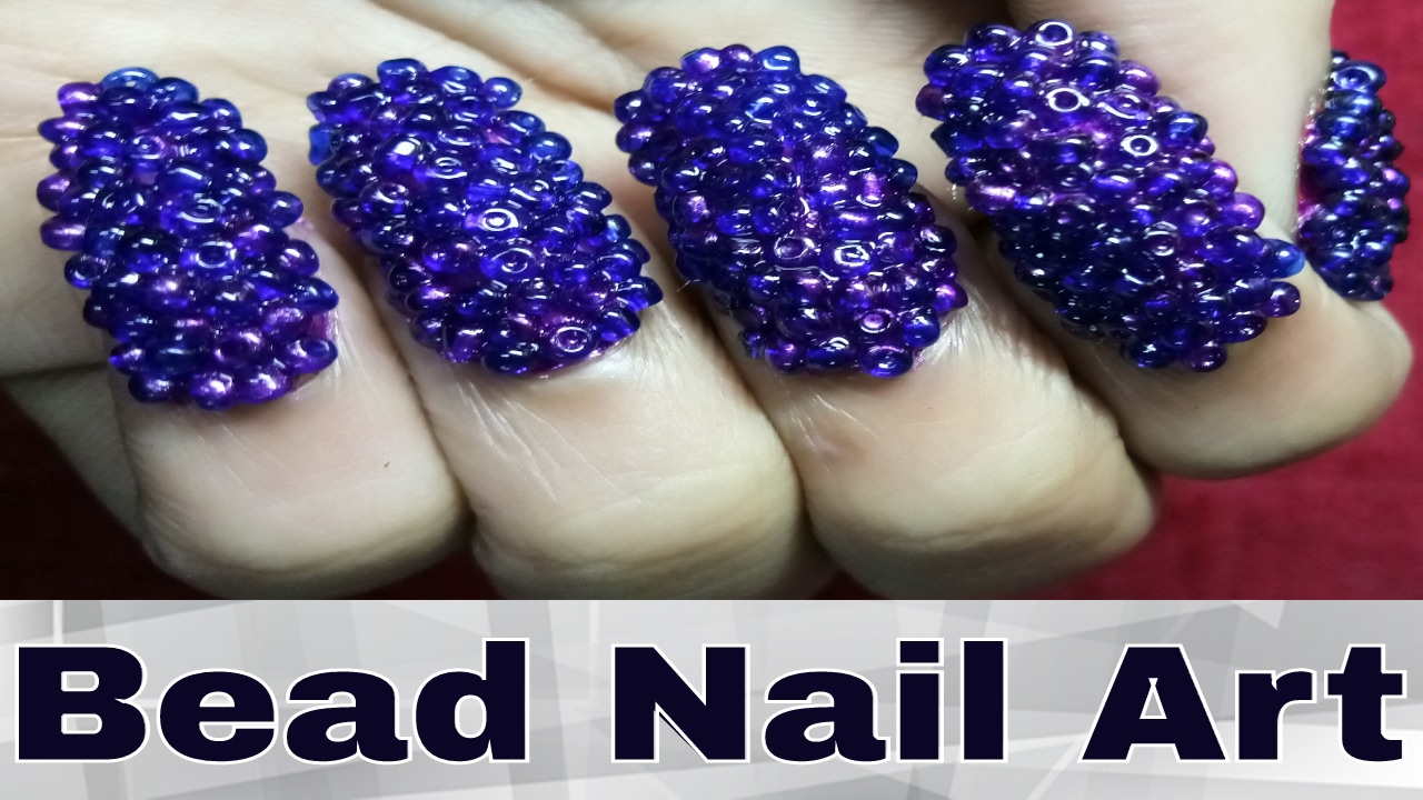 Easy Bead Nail Art Designs For Kid At Home - YouTube