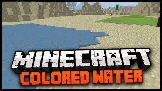 Minecraft Mod Spotlight: COLORED WATER MOD 1.6.2 - CHANGE THE COLOR OF WATER!