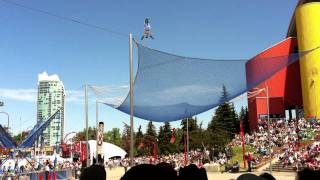 Human Cannonball Launch Fail @ Calgary Stampede 2011