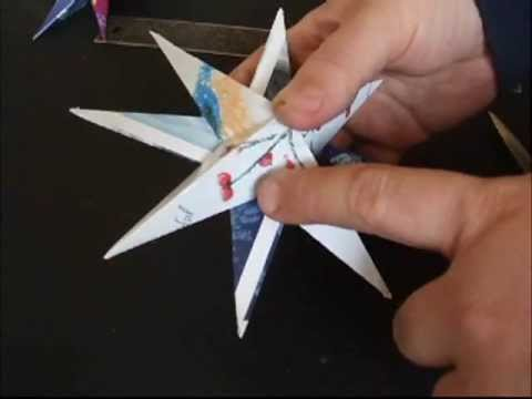Recycled Christmas Card Star Ornaments  YouTube
