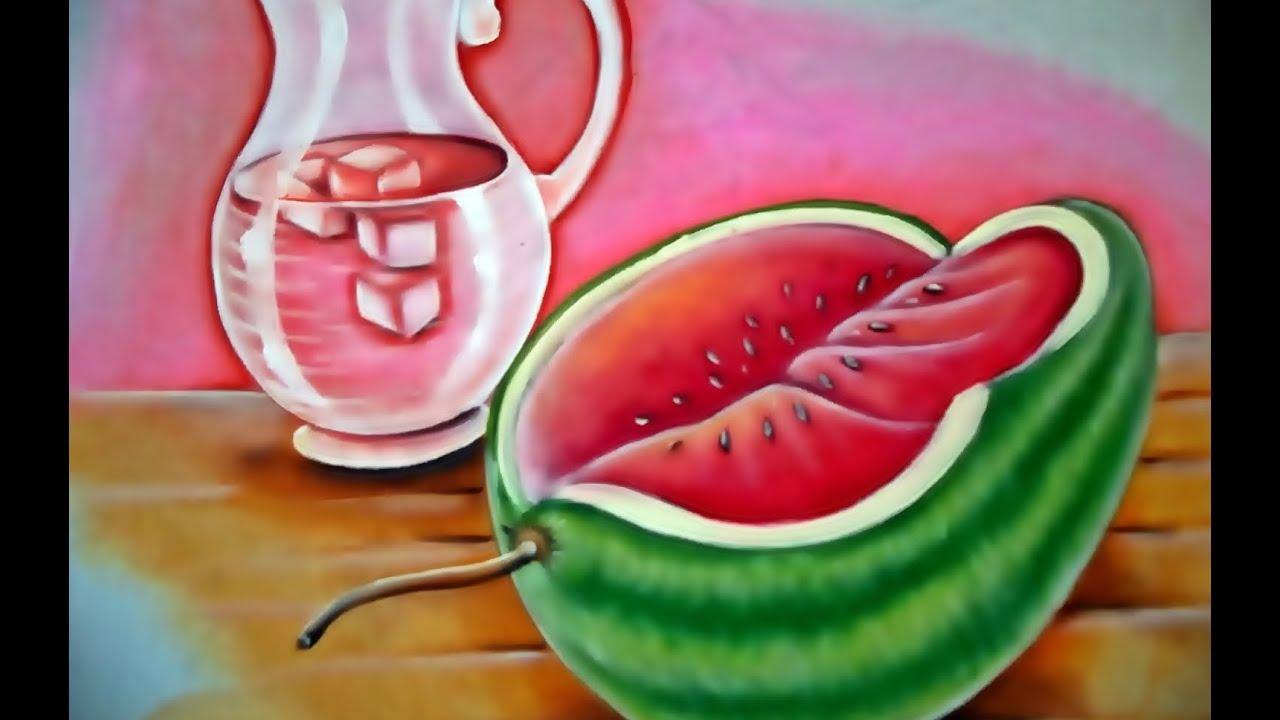 Como pintar melancia e jarro de suco pintura em tecido for Pinturas para pintar