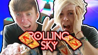 MOUSE TRAP GAMING CHALLENGE! - Rolling Sky (New Update) - Lonnie & Robby