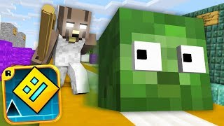 Monster School : GEOMETRY DASH GAME VS GRANNY CHALLENGE - Minecraft Animation