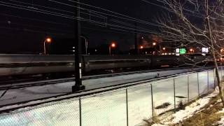 Amtrak ACS-64 Cities Sprinter #600 Departing Philadelphia HORN SHOW