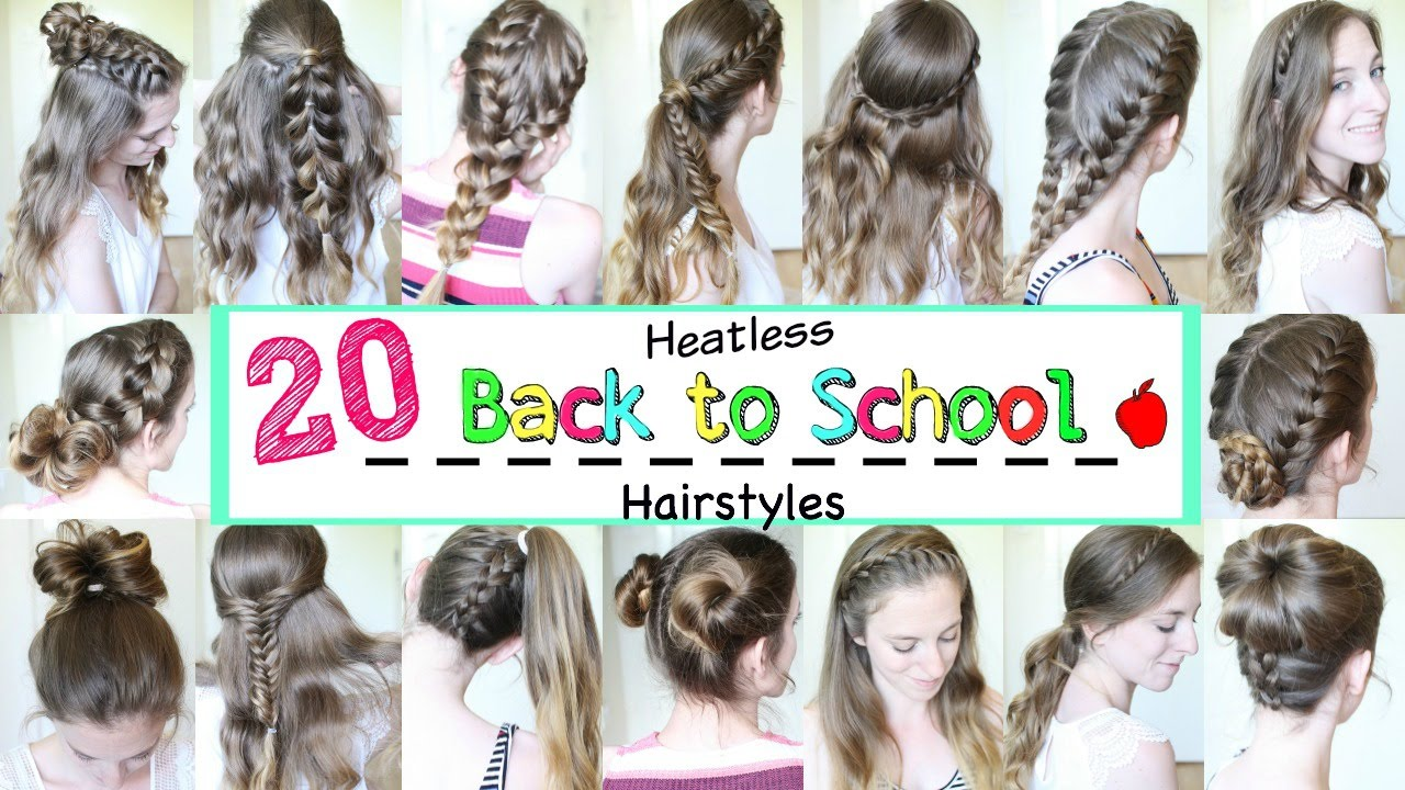 20 Back to School Heatless Hairstyles | School Hairstyles |  Braidsandstyles12